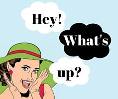 O que quer dizer What's up em Português?
