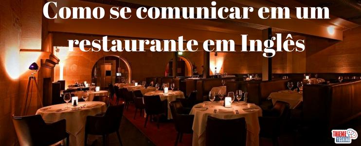 Se comunicar em um restaurante em Inglês