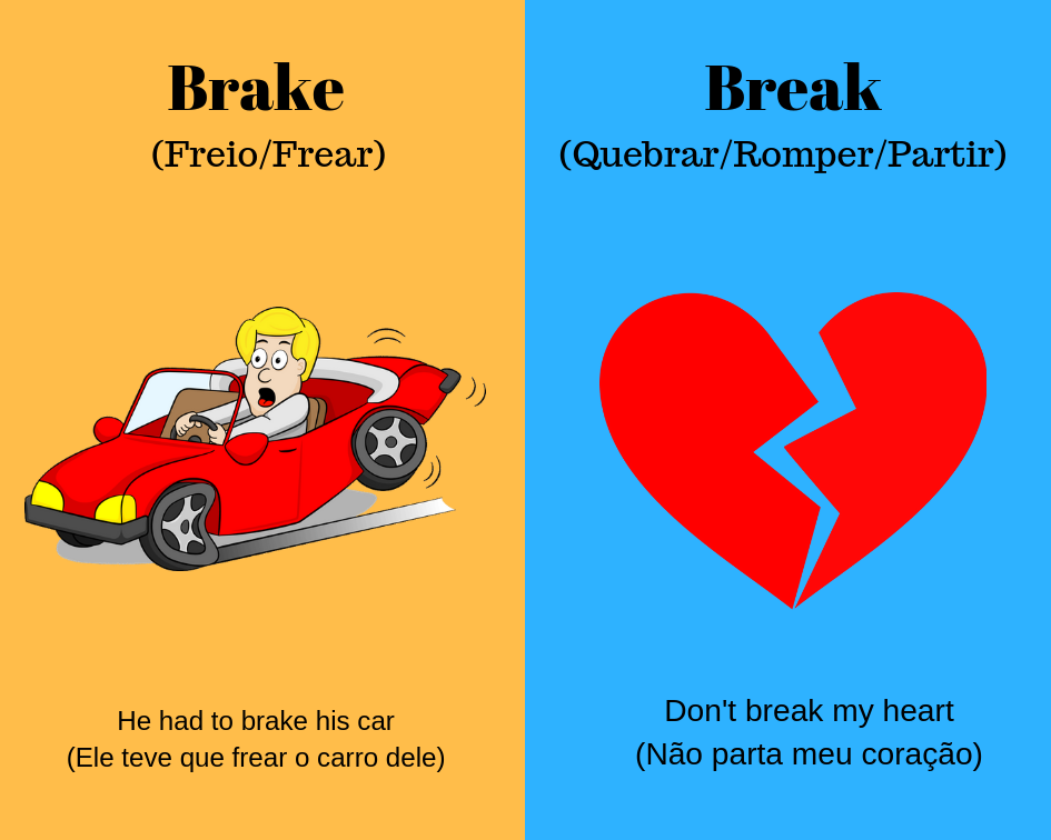 brake vs break