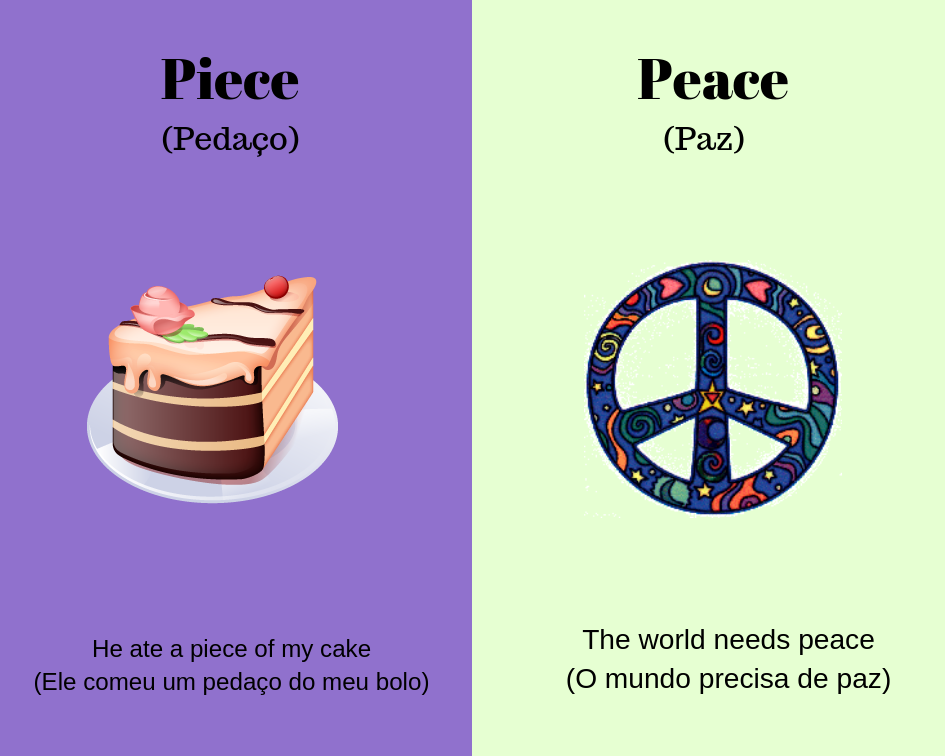 piece vs peace