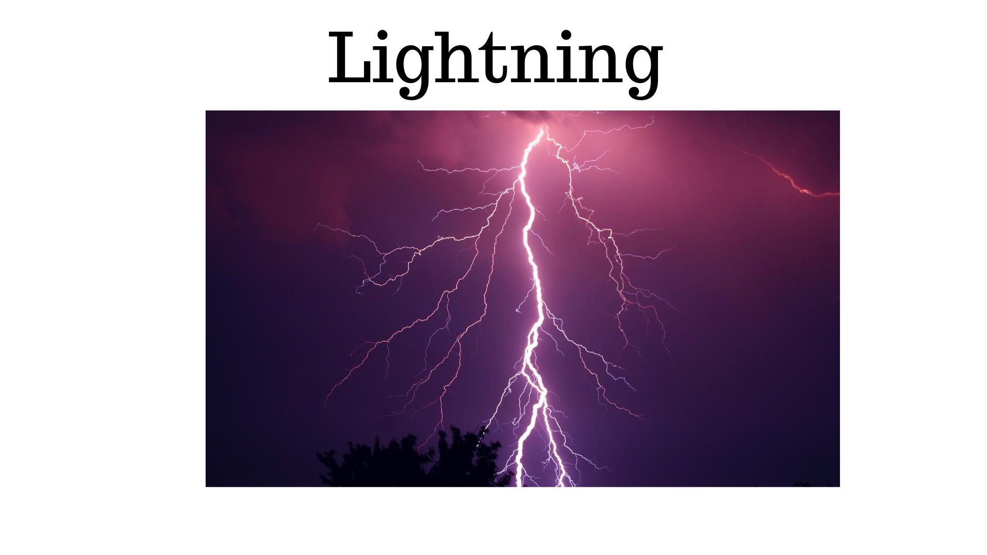 dicas para pensar em inglês - Lightning
