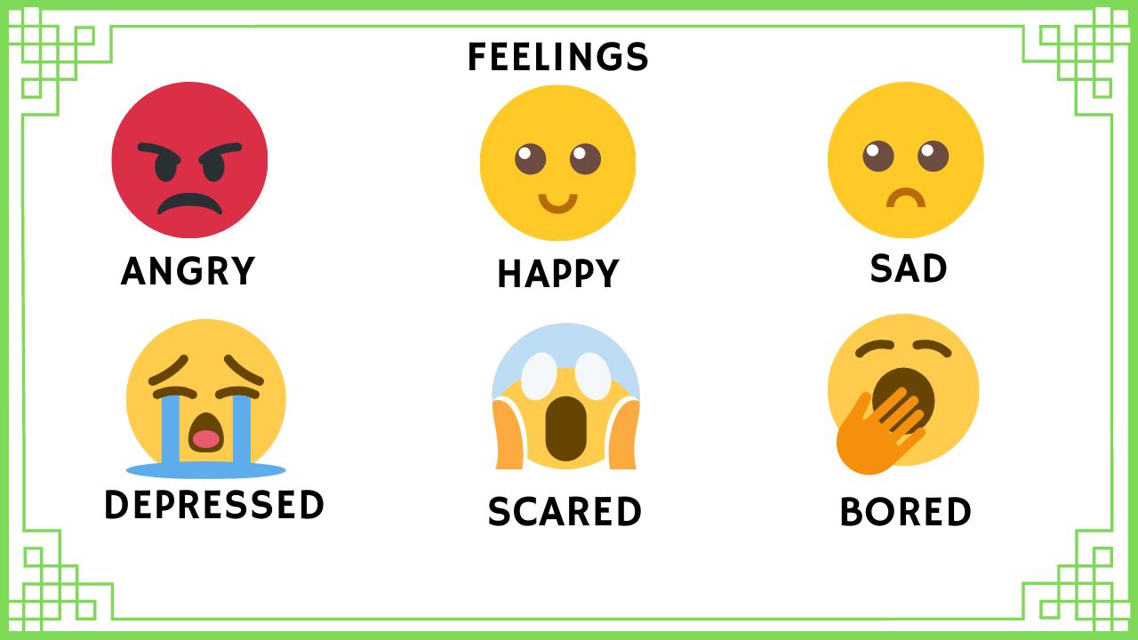 Sentimentos em inglês