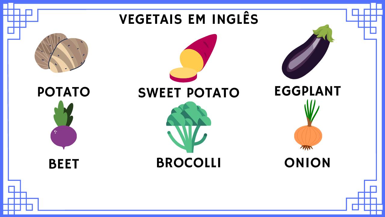 Aprenda os vegetais em inglês